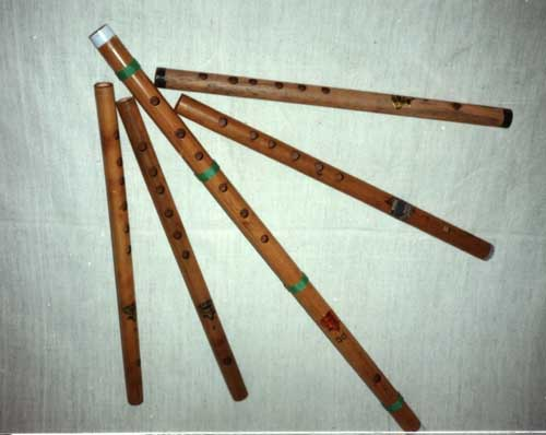Bamboo Flutes.
