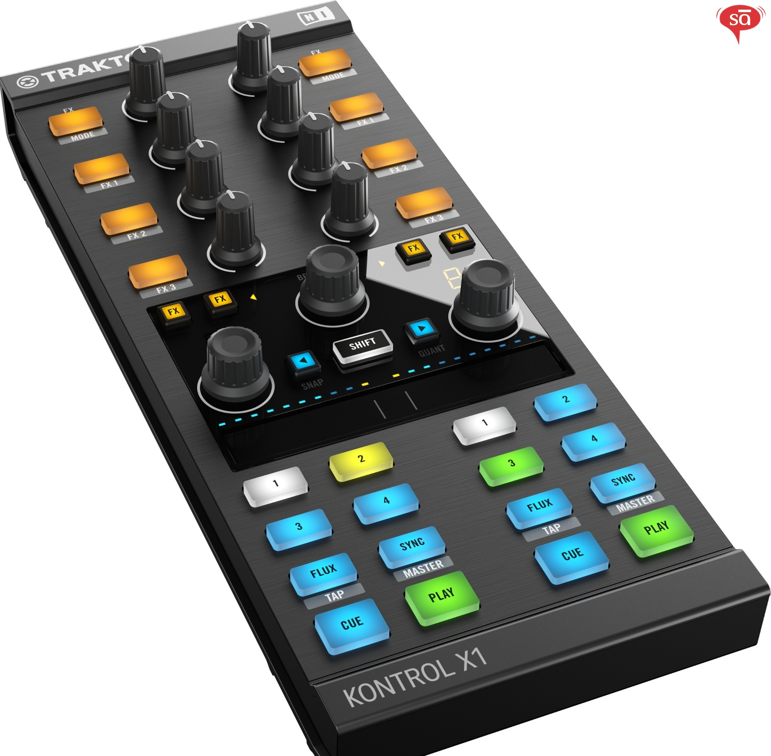 Native Instruments Traktor Kontrol X1 mk2 DJ Mixers   Sudeepaudio com