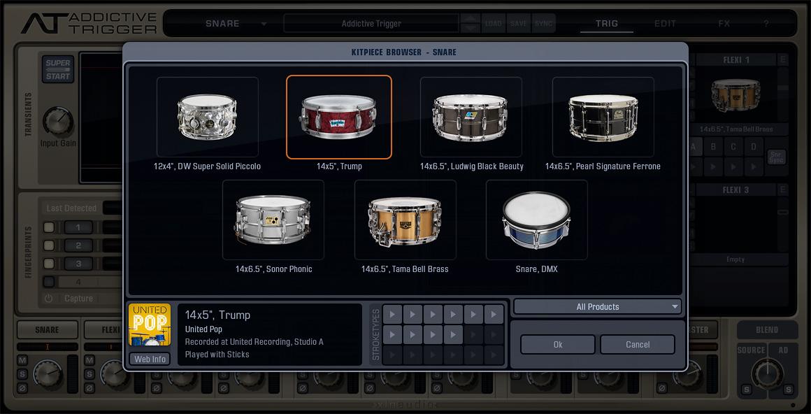 XLN Audio Addictive Trigger Drum Replacers | Sudeepaudio com